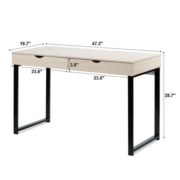 2021-New-Hot-Computer-Table-Laptop-Office-Desk-Study-Table-Workstation-With-2-Drawers-Laptop-Office-1