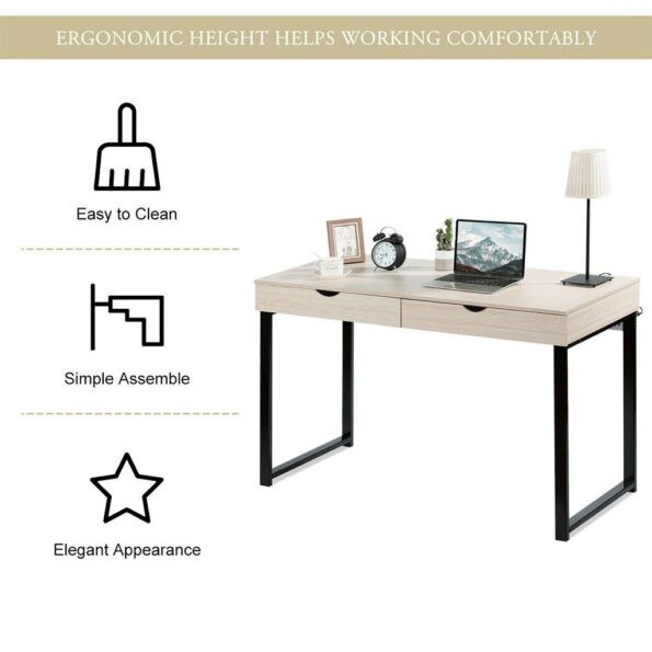 2021-New-Hot-Computer-Table-Laptop-Office-Desk-Study-Table-Workstation-With-2-Drawers-Laptop-Office-3