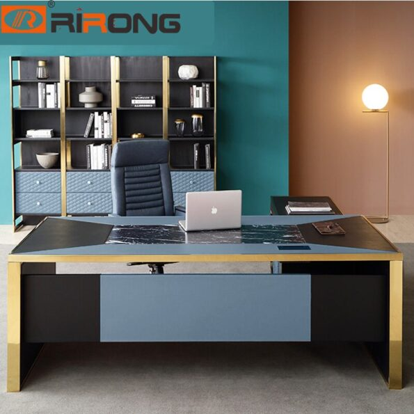 Blue-Red-Luxury-Modern-Home-Office-Furniture-Design-Gold-Computer-Leather-Table-Office-Table-Set-Standing-1