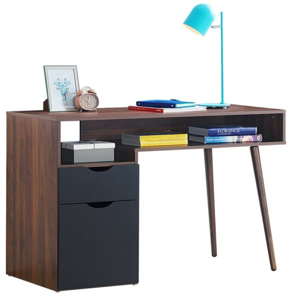 Computer-Desk-PC-Writing-Table-Drawer-Cabinet-with-Wood-Legs-HW62990-1