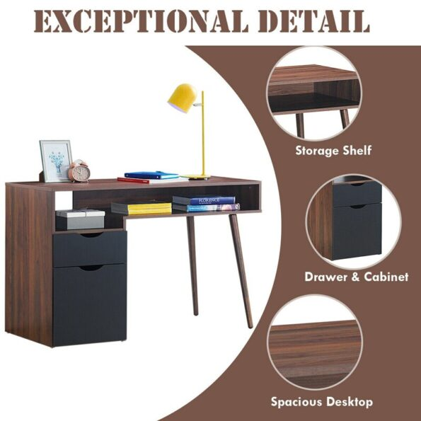 Computer-Desk-PC-Writing-Table-Drawer-Cabinet-with-Wood-Legs-HW62990-5