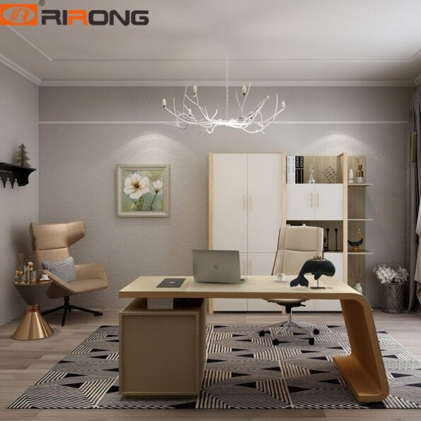 Modern-Elegant-Wooden-Leather-Home-Office-Study-160cm-2-2-17m-Curved-L-shape-Director-Executive-2