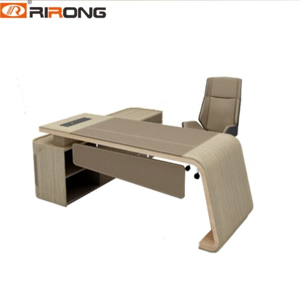 Modern-Elegant-Wooden-Leather-Home-Office-Study-160cm-2-2-17m-Curved-L-shape-Director-Executive-5