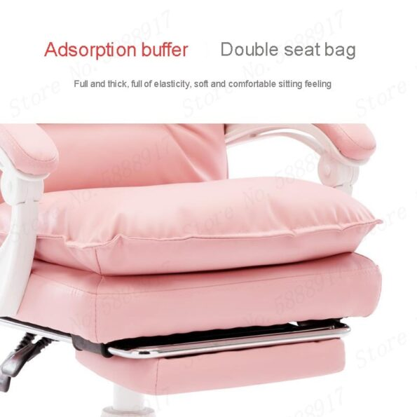 New-comfortable-pink-chair-soft-office-PU-Leather-chairs-with-footrest-Reclining-computer-cotton-chair-Rotatable-2
